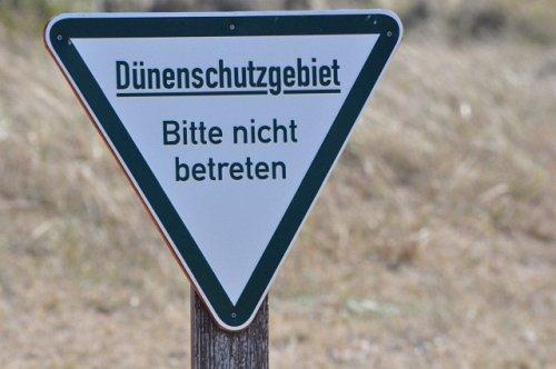 Achtung Dünenschutzgebiet